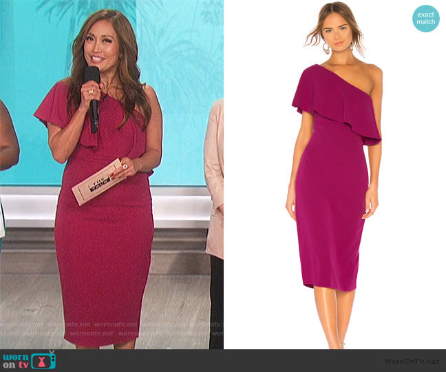 Bentley Midi Dress by Lovers + Friends worn by Carrie Inaba (Carrie Inaba) on The Talk
