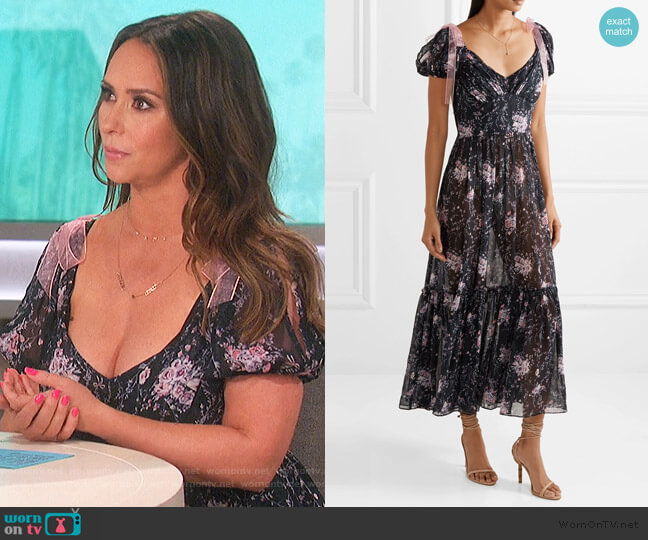 Angie Dress by Love Shack Fancy worn by Jennifer Love Hewitt on The Talk