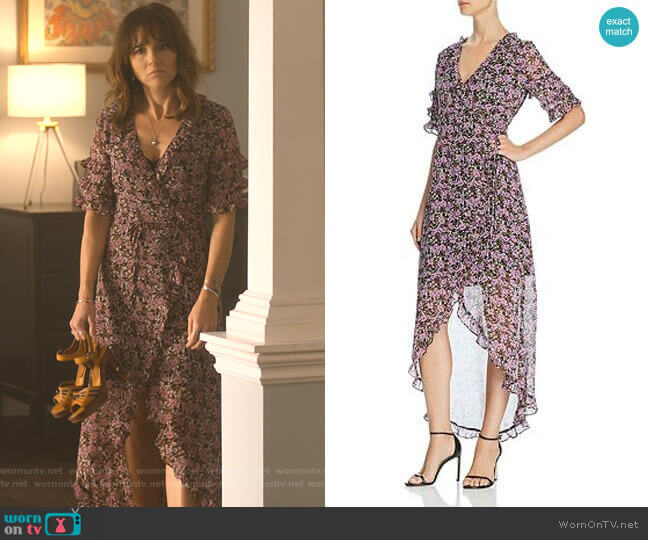 Lovestoned Floral-Print Wrap Dress by Lost and Wander worn by Judy Hale (Linda Cardellini) on Dead to Me