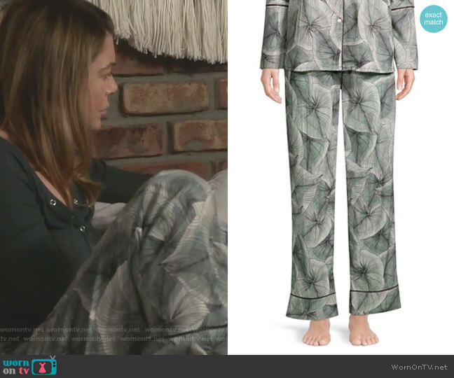 Vienna Two-Piece Pajama Set by Maison Du Soir worn by Meredith Grey (Ellen Pompeo) on Greys Anatomy