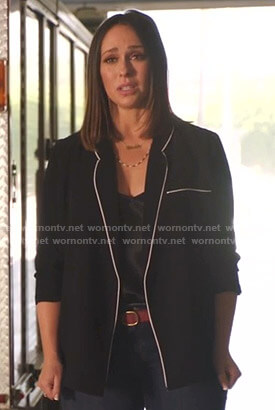Maddie's black blazer with white piping on 9-1-1