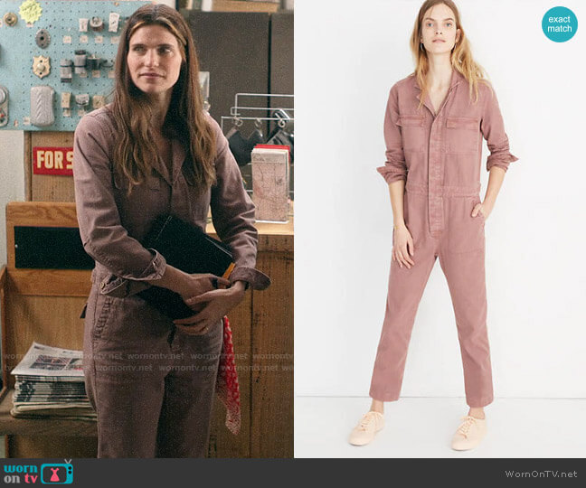 Madewell Coverall Jumpsuit worn by Rio (Lake Bell) on Bless This Mess