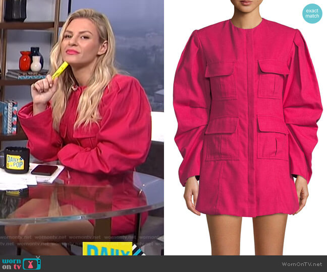 Do Whatever It Takes Dress by Maggie Marilyn worn by Morgan Stewart (Morgan Stewart) on E! News