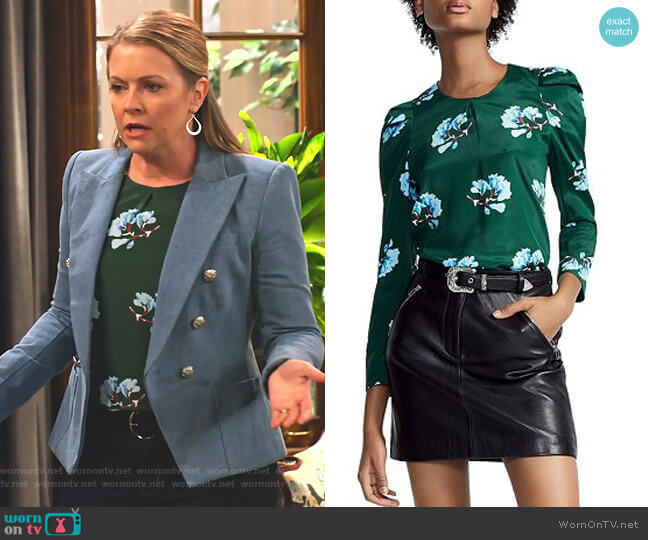 Lukoise Top by Maje worn by Liz (Melissa Joan Hart) on No Good Nick