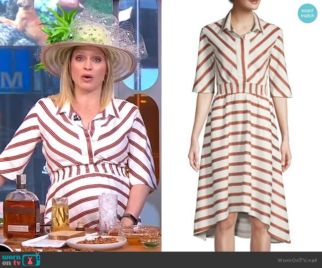 Romala Dress by Maje worn by Sara Haines  on Good Morning America
