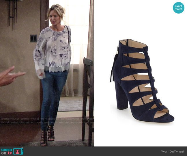 Marc Fisher LTD Hindera Sandal  worn by Sharon Collins (Sharon Case) on The Young & the Restless