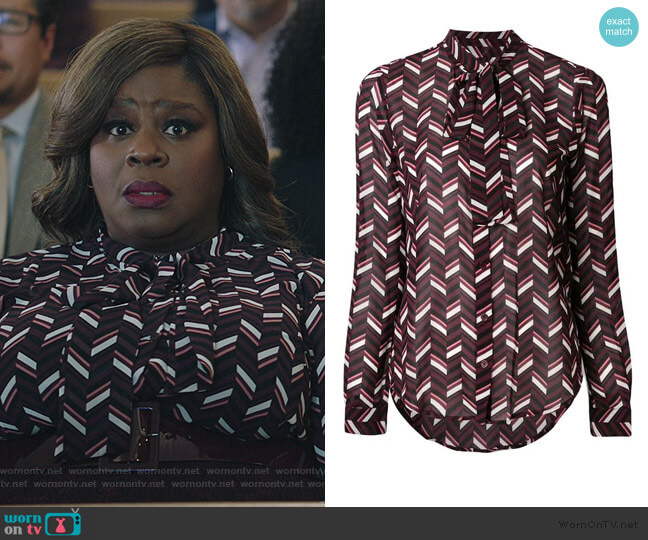 Printed Blouse by Michael Michael Kors worn by Ruby Hill (Retta) on Good Girls