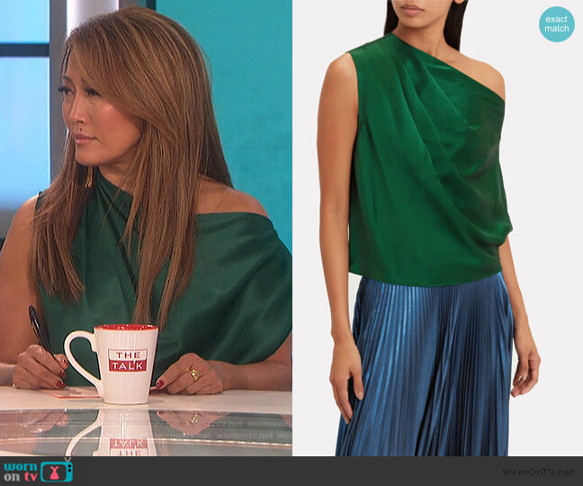 One Shoulder Drape Top by Michelle Mason worn by Carrie Inaba  on The Talk