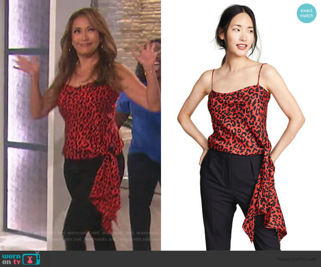 Tanya Top by Milly worn by Carrie Inaba  on The Talk
