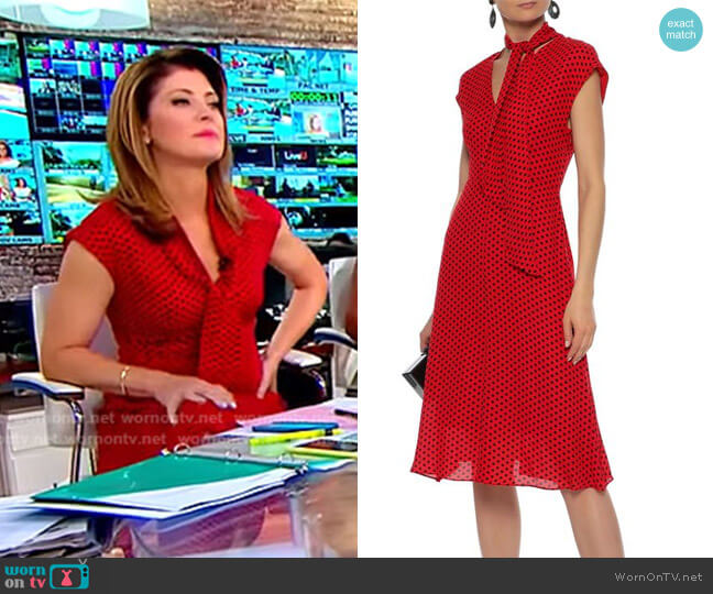Gabby Dress by Milly worn by Norah O'Donnell  on CBS This Morning