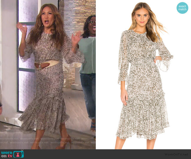 Laia Dress by Misa Los Angeles worn by Carrie Inaba  on The Talk