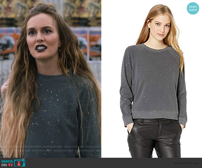 Splatter Print Pullover by Monrow worn by Angie (Leighton Meester) on Single Parents