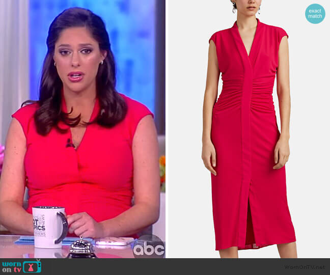 Ruched Jersey Midi-Dress by Narciso Rodriguez worn by Abby Huntsman (Abby Huntsman) on The View