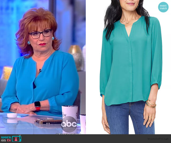Pintuck-Back Blouse by NYDJ worn by Joy Behar  on The View