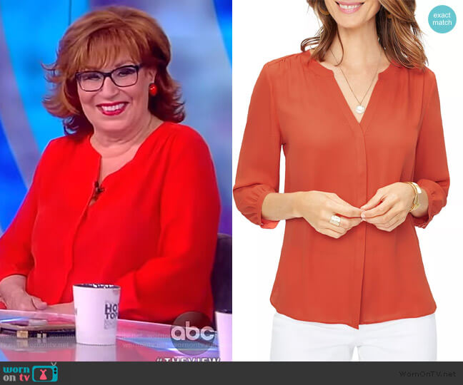 Pintuck-Back Blouse by NYDJ worn by Joy Behar (Joy Behar) on The View
