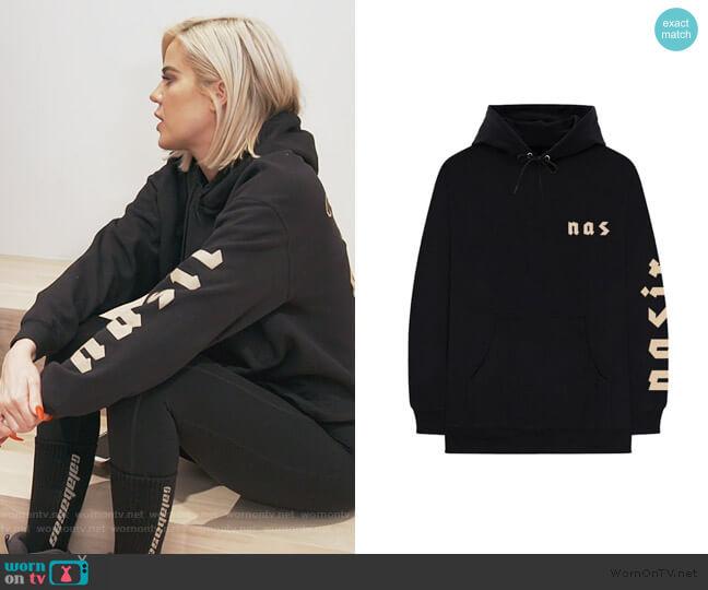 Symbols Hoodie by Nas worn by Khloe Kardashian  on Keeping Up with the Kardashians