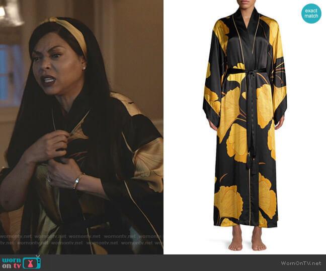 Gingko Floral Silk Robe by Josie Natori worn by Cookie Lyon (Taraji P. Henson) on Empire