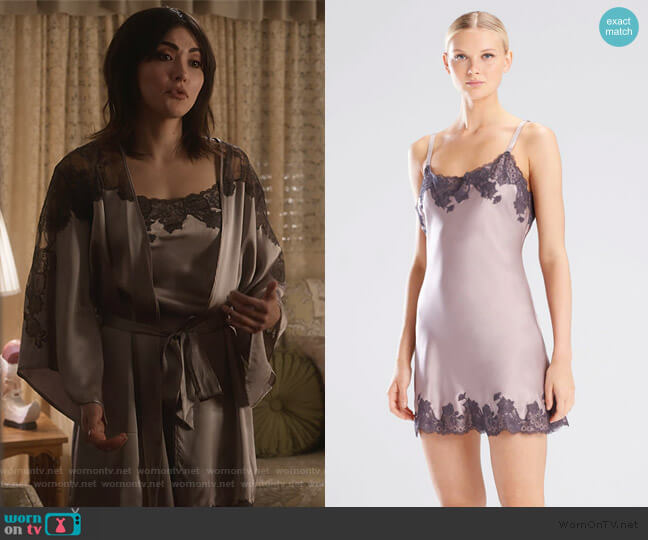 Lolita Chemise by Josie Natori worn by Cassidy Barrett (Daniella Pineda) on What/If