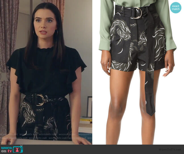 Bird Print Shorts by Nina Ricci worn by Jane Sloan (Katie Stevens) on The Bold Type