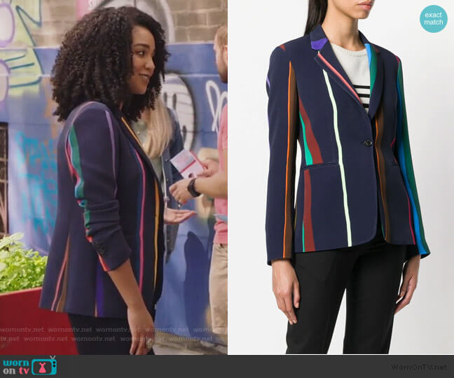 Striped Blazer by Paul Smith worn by Kat Edison (Aisha Dee) on The Bold Type