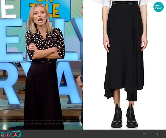 Pleated Godet Skirt by Prada worn by Kelly Ripa (Kelly Ripa) on Live with Kelly & Ryan