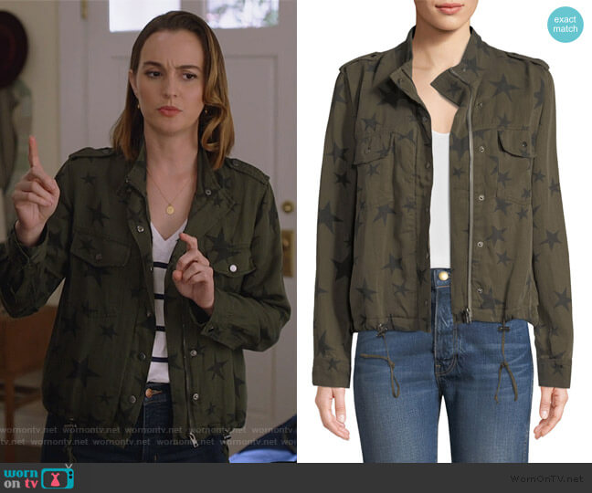 Collins Star-Print Utility Jacket by Rails worn by Angie (Leighton Meester) on Single Parents