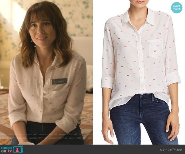 Kate Shirt by Rails worn by Judy Hale (Linda Cardellini) on Dead to Me
