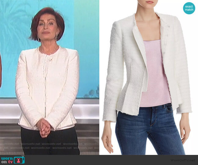 Tailored Tweed Jacket by Rebecca Taylor worn by Sharon Osbourne  on The Talk