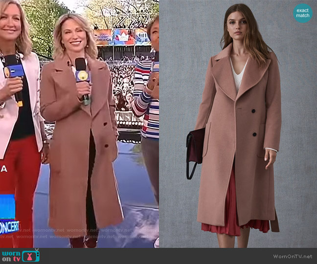 Faris Coat by Reiss worn by Amy Robach  on Good Morning America