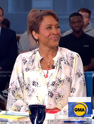 Robin's printed blouse on Good Morning America