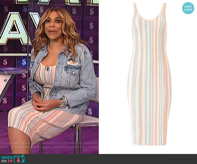 Pastel Rakel Dress by Ronny Kobo worn by Wendy Williams  on The Wendy Williams Show