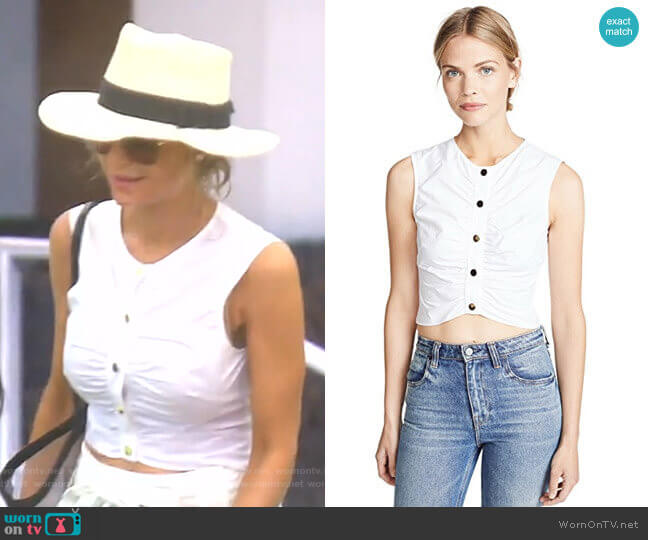 Ruched Crop Top by Derek Lam 10 Crosby worn by Dorit Kemsley  on The Real Housewives of Beverly Hills