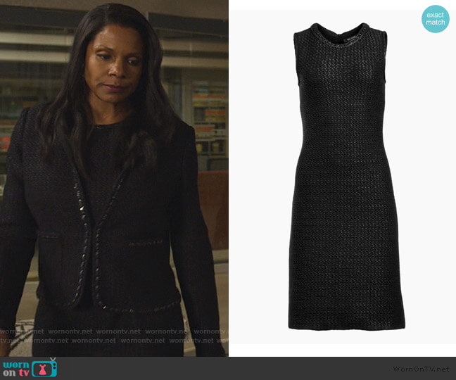 Adina Knit Dress by St. John worn by Liz Reddick-Lawrence (Audra McDonald) on The Good Fight