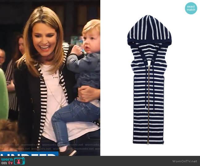 Stripe Dickey by Veronica Beard worn by Savannah Guthrie  on Today