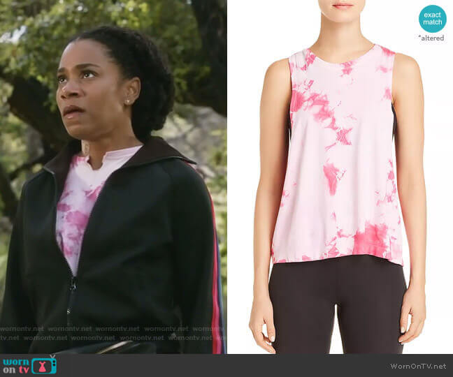 Supernova Tie-Dye Muscle Tank by Spiritual Gangster worn by Maggie Pierce (Kelly McCreary) on Greys Anatomy