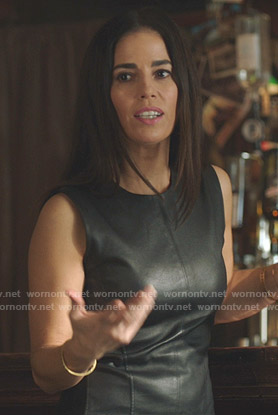 Susan's black leather top on Whiskey Cavalier