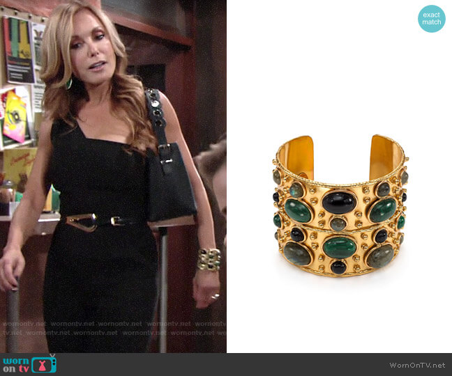 Sylvia Toledano Byzance Cuff worn by Lauren Fenmore (Tracey Bregman) on The Young & the Restless