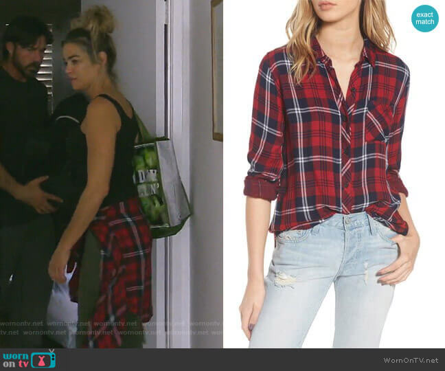 Taitum Shirt by Rails worn by Denise Richards  on The Real Housewives of Beverly Hills