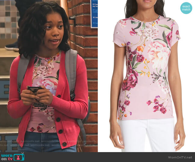 Evaai Serenity Tee by Ted Baker worn by Becky (Kyla-Drew) on No Good Nick