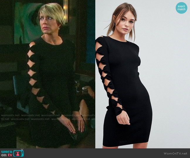 Ted Baker Knitted Bodycon Dress with Bow Sleeve Detail worn by Nicole Walker (Arianne Zucker) on Days of our Lives