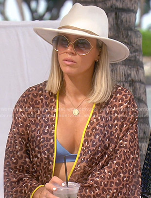 Teddi's leopard print kimono on The Real Housewives of Beverly Hills