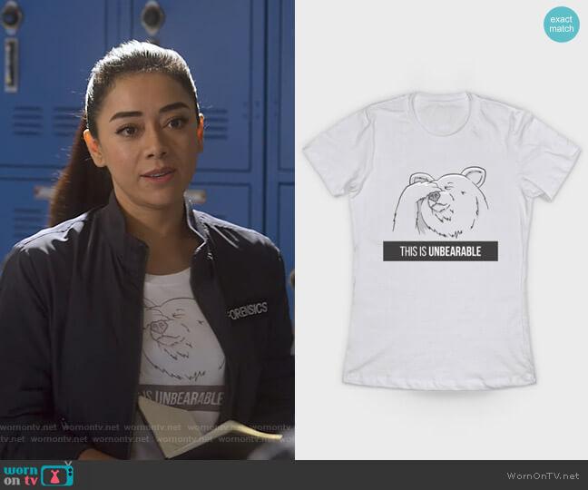 This Is Unbearable T-Shirt by slugbunny at Teepublic worn by Ella Lopez (Aimee Garcia) on Lucifer