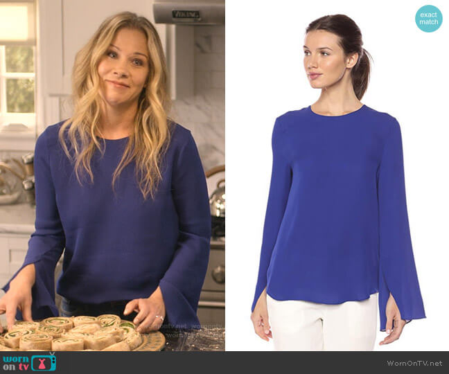 Bringam Top by Theory worn by Jen Harding (Christina Applegate) on Dead to Me