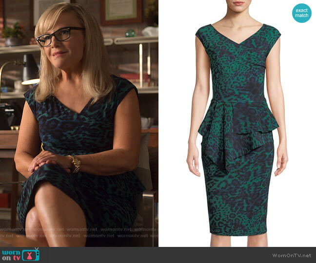 Tini Dress by Chiara Boni La Petite Robe worn by Linda Martin (Rachael Harris) on Lucifer