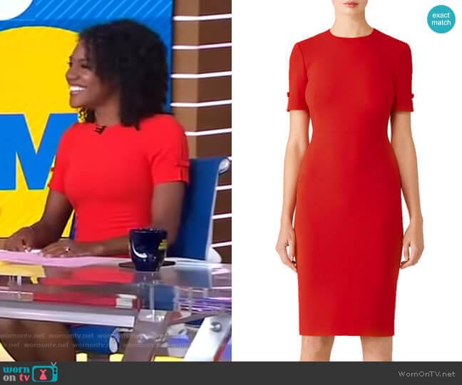 WornOnTV: Janai's Red Bow Sleeve Dress On Good Morning