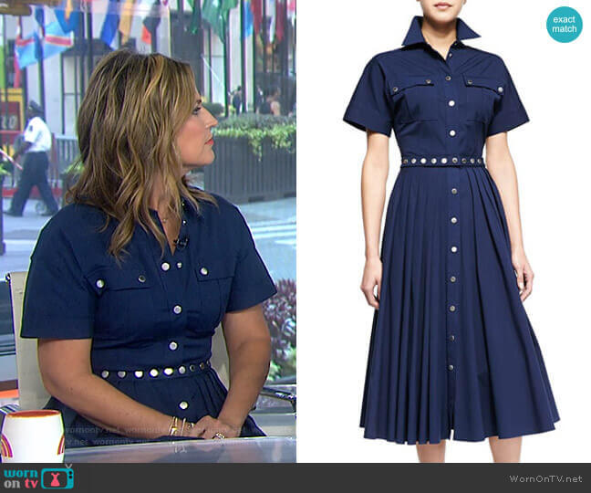 Utility Snap-Front Shirtdress by Michael Kors worn by Savannah Guthrie  on Today