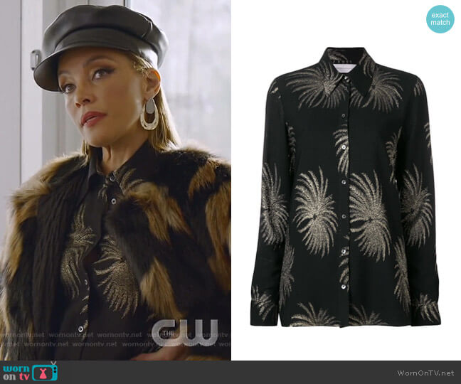 Palm Tree Shirt by Victoria Victoria Beckham worn by Dominique Deveraux (Michael Michele) on Dynasty