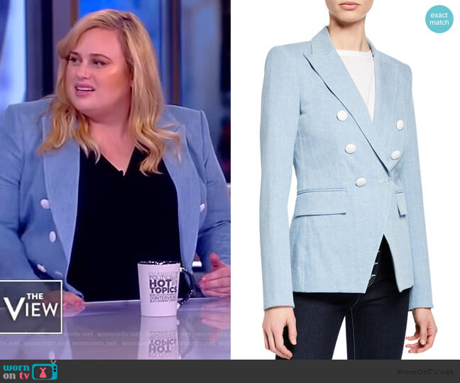 Miller Double-Breasted Dickey Jacket by Veronica Beard worn by Rebel Wilson on The View