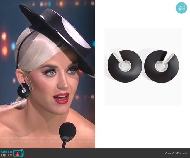Verso Earrings by Vhernier worn by Katy Perry  on American Idol