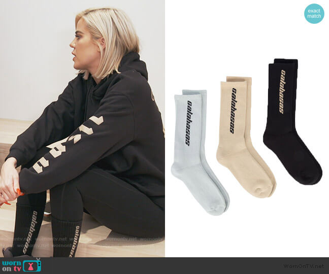 Calabasas socks set by Yeezy worn by Khloe Kardashian  on Keeping Up with the Kardashians